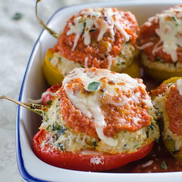 turkey stuffed peppers | Garlic + Zest