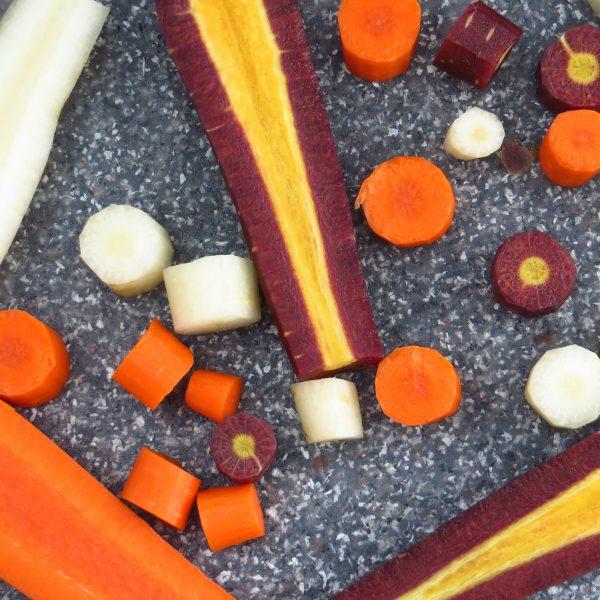 savory oven roasted root vegetables   Garlic + Zest