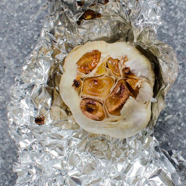 mashed cauliflower with roasted garlic   Garlic + Zest