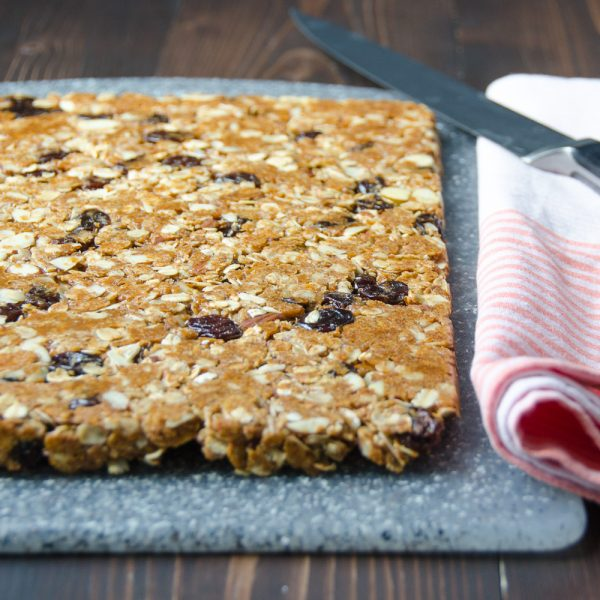 cherry almond granola bars | Garlic + Zest