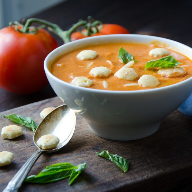 cream of tomato soup with orzo | Garlic + Zest