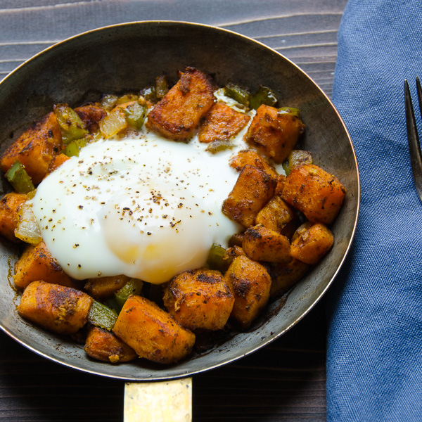 sweet potato and bacon hash | Garlic + Zest