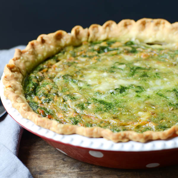 homemade spinach gruyere quiche | Garlic + Zest