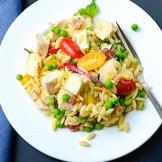 Lemony Chicken and Orzo Salad | Garlic + Zest