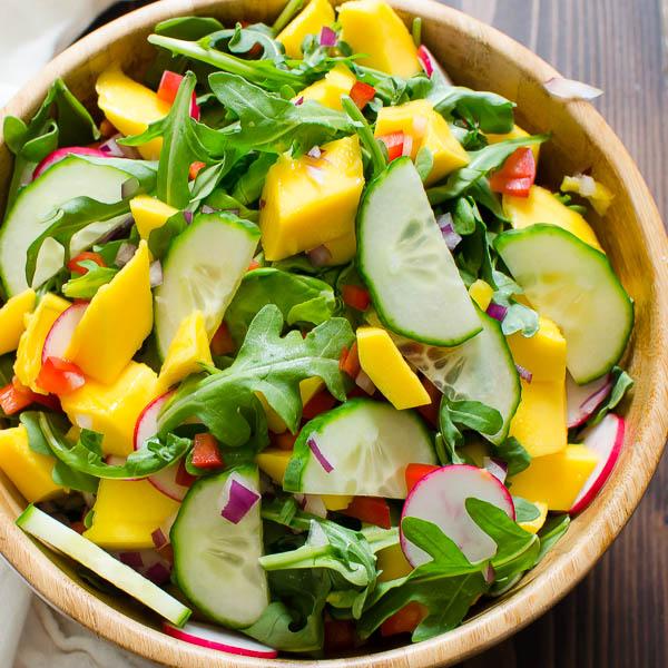 Key Lime Mango Crab Cake Salad   Garlic + Zest