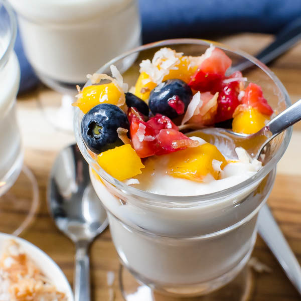 Tropical Coconut Rum Pudding | Garlic + Zest