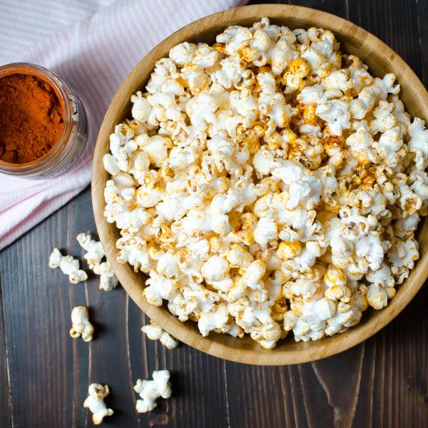 Black n' Bluesy Popcorn | Garlic + Zest