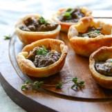 Savory Mushroom Tartlets   Garlic + Zest