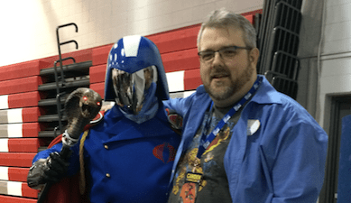 Cobra Commander (actually, my good friend Ray Lopez) and me.