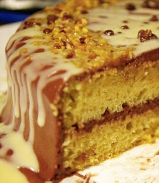 tarta con coberturas