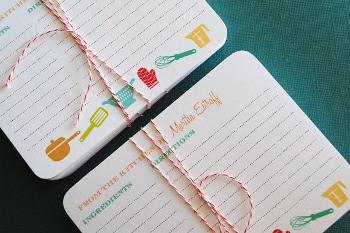 tarjetas para recetas personalizadas