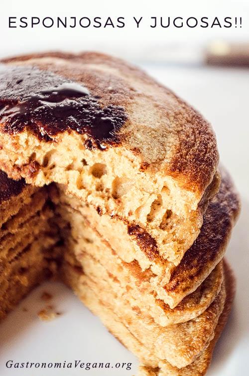 Tortitas integrales con vainilla - GastronomiaVegana.org