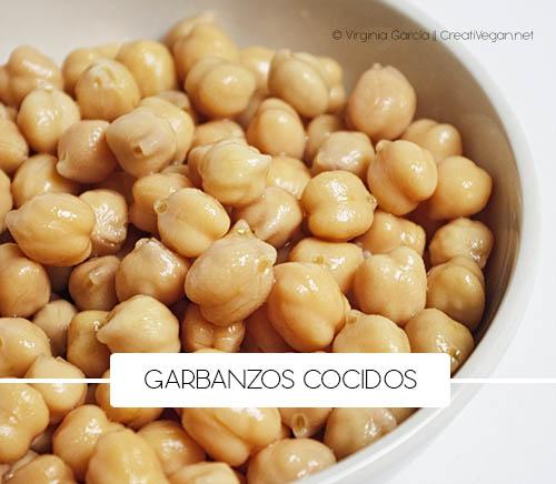 Garbanzos cocidos - Cómo cocinar con legumbres - GastronomiaVegana.org