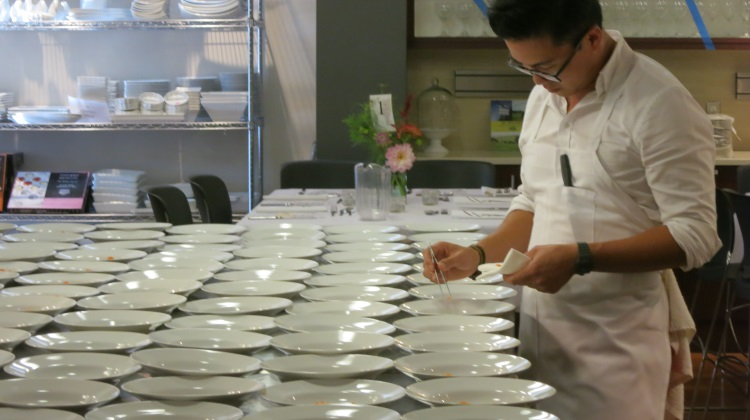 viet pham prepares dishes at feast of five senses 2013
