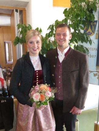 Prinzenpaar Veronika I und Jakob I (Veronika Geisler und Jakob Kollmannsberger) 11.11.2018