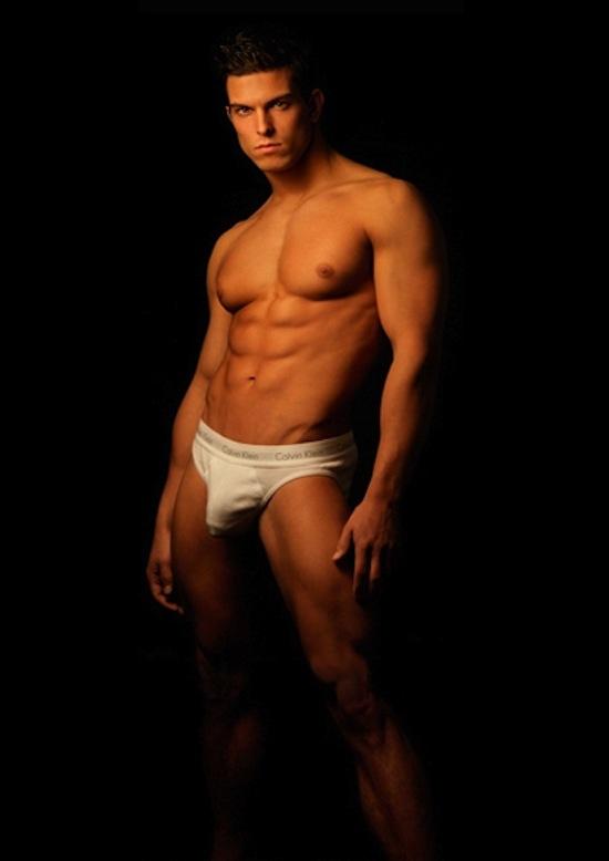 Michael Biserta in underwear