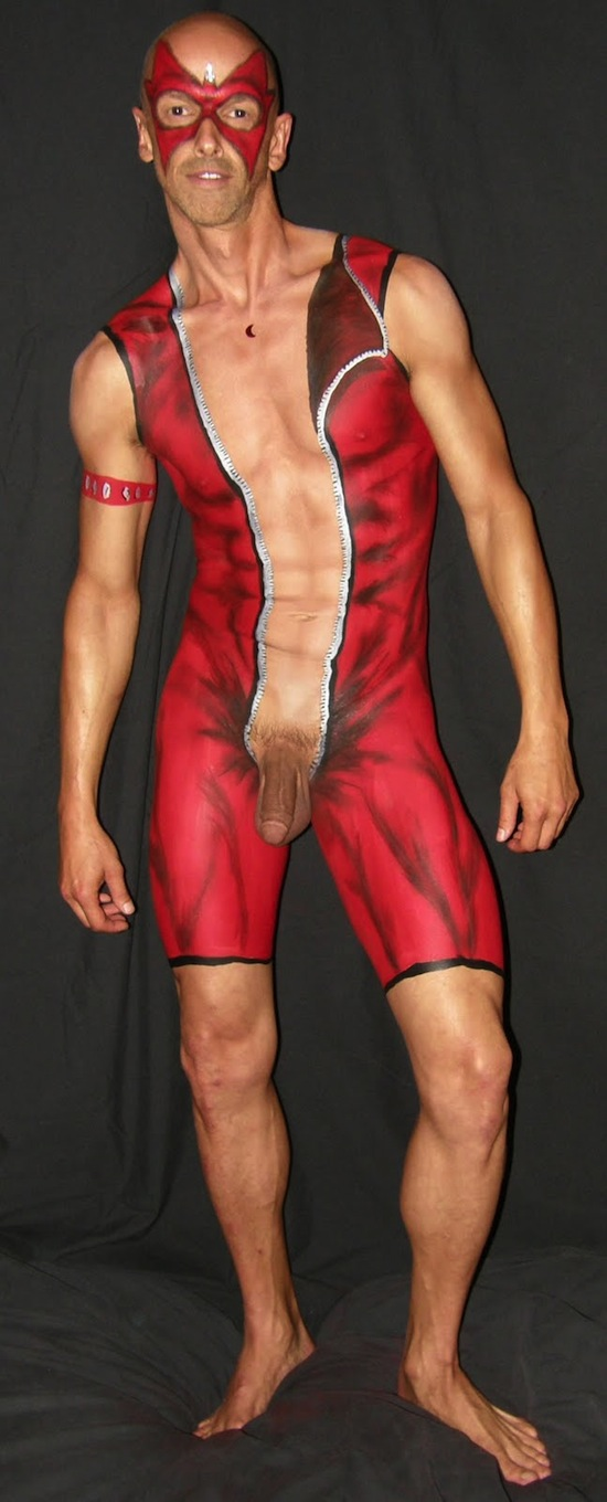 Sexy Male Body Painting 2