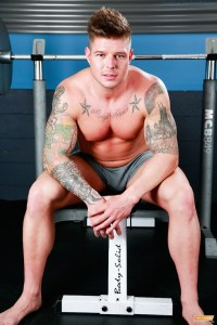 Beefy Jock Brock Hammer Strokes One Out