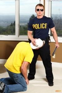 Peeping Tom Connor Chesney Sucks Some Cop Cock!