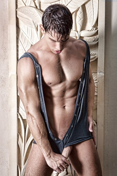 Kris Evans With His Cock Out For Joan Crisol 1