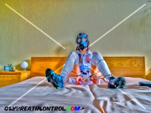 EmoBCSMSlave Soccer Shoes and Breath Controlled w/ Gas Mask