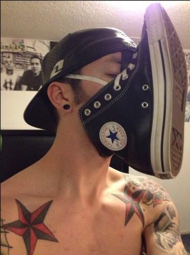 Sniffing Converse Chucks