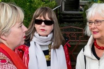 From left: Sigríður Ingibjörg Ingadóttir, Jónína Leósdóttir and Jóhanna Sigurðardóttir. Photo/Stefán Karlsson