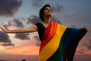 Still from film PURPLE SKIES - Voices of Indian lesbians, bisexuals & transmen