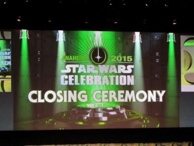 Star Wars Celebration Anaheim, Closing Ceremony