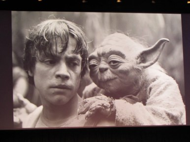 luke skyealker and yoda, celebration anaheim