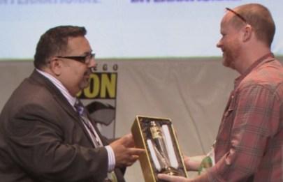 SDCC, SDCC 2015, Joss Whedon, David Glanzer, Icon Award