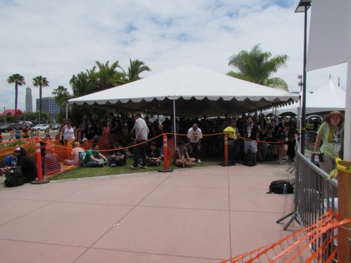 People in line for Hall H around 1pm on Friday