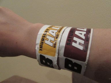 "Thursday and Saturday ""B"" wristbands for Hall H"