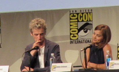 SDCC 2015 Thursday Doctor Who Panel, Peter Capaldi, Jenna Coleman