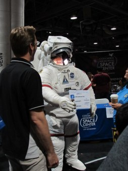 You could take a picture inside of a space suit!