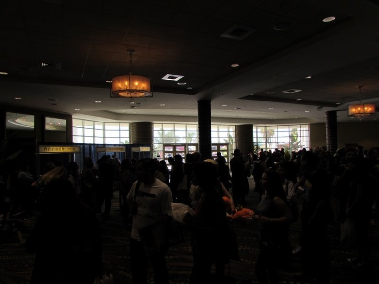 The line for John Barrowman was already getting long by 12pm, one hour before the panel was scheduled to start