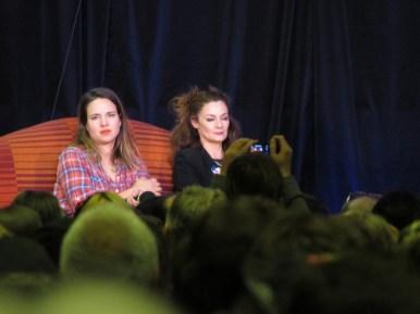 Ingrid Oliver and Michelle Gomez