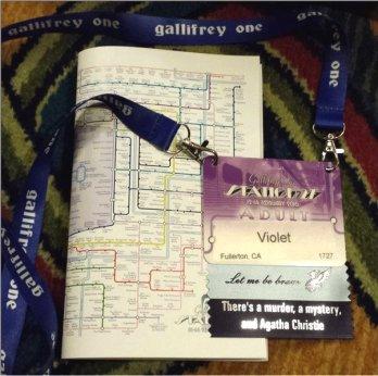 Gallifrey One 2016 badge