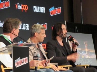 Keanu Reeves talks Replicas at NYCC 2017