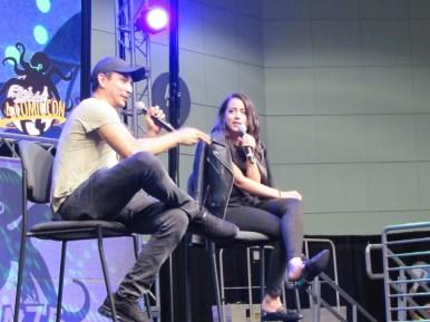 Gabriel Luna and Chloe Bennet at LA Comic Con 2017
