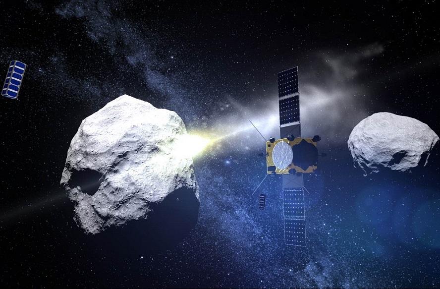 A misión combinada da ESA e da NASA busca impactar co asteroide e desvialo.