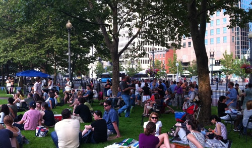 Beer Garden at Burnside Park