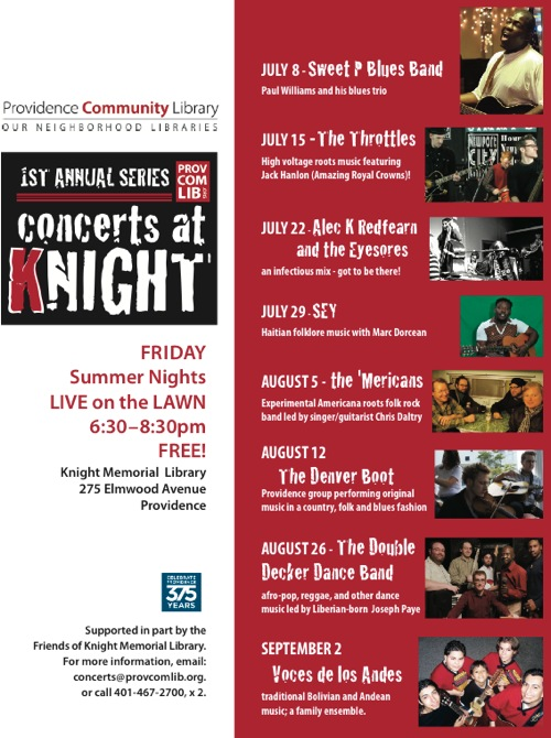 Providence Community Library Summer Concert Series