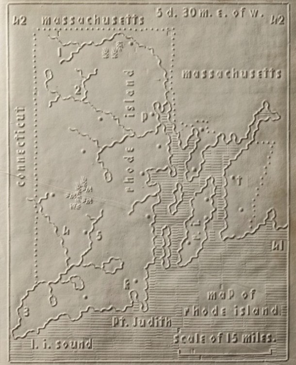 Tactile Map of Rhode Island