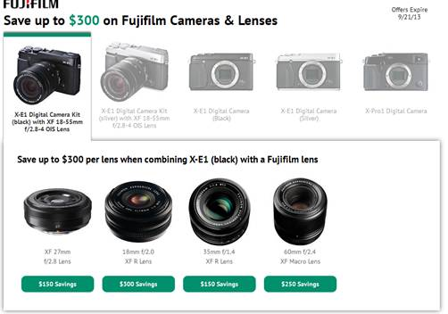Save up to $400 on Fujifilm Cameras and Lenses