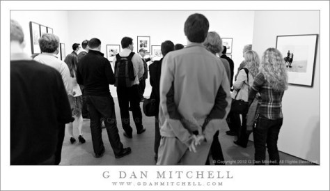 Arthur Tress, De Young Museum - Arthur Tress discusses his photographs with a group of photographers at his exhibit at the De Young Museum, San Francisco.