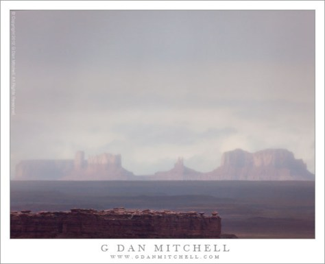 Rain Squall, Monument Valley