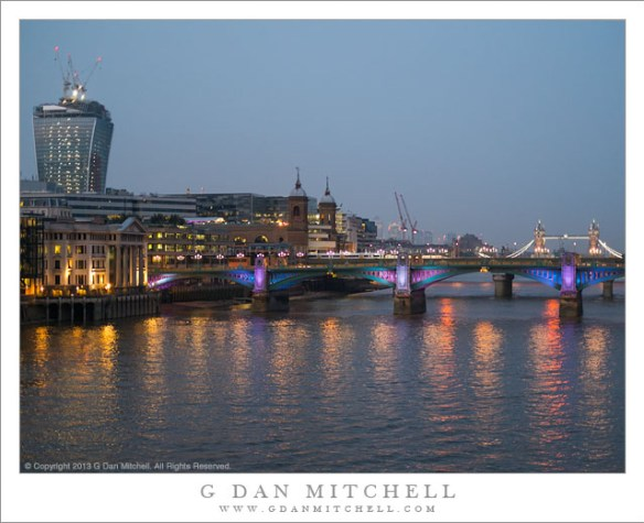 Thames River Reflections, Night