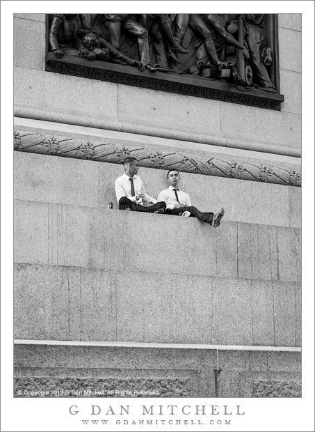 Two Men, Trafalgar Square
