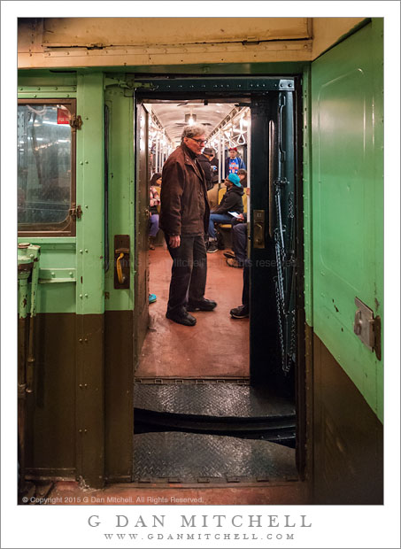 Man in Subway Car